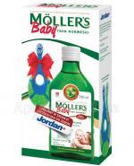 MOLLERS BABY Tran Norweski naturalny + szczoteczka Jordan GRATIS - 250 ml + 1 szt. - Apteka internetowa Melissa