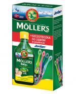 MOLLERS BABY Tran norweski o aromacie cytrynowym - 250 ml + SZCZOTECZKA DO ZĘBÓW w prezencie - Apteka internetowa Melissa