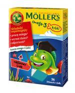 MOLLERS Omega-3 Rybki, Żelki o smaku malinowym - 36 szt. - Apteka internetowa Melissa