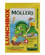 MOLLERS Tran norweski o aromacie cytrynowym - 250 ml + Lunchbox w prezencie  - Apteka internetowa Melissa