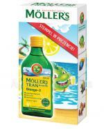 MOLLERS Tran norweski o aromacie cytrynowym - 250 ml + Stempelek w prezencie - Apteka internetowa Melissa