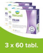 NATURELL FOLIAN - 3 x 60 tabl. Suplementacja kwasu foliowego.
