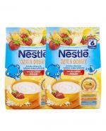 NESTLE DZIEŃ DOBRY Kaszka mleczna ryżowo-kukurydziana banan truskawka po 6 m-cu - 2 x 230 g - Apteka internetowa Melissa