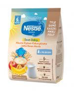 NESTLE DZIEŃ DOBRY Kaszka mleczna ryżowo-kukurydziana banan, jabłko, morela po 9 m-cu - 230 g - Apteka internetowa Melissa