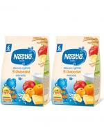 NESTLE Kaszka mleczno-ryżowa 5 owoców, po 9 miesiącu - 2 x 230 g - Apteka internetowa Melissa