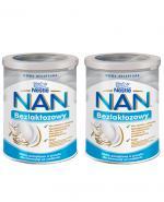 Nestle NAN EXPERT Bezlaktozowy mleko początkowe dla niemowląt od urodzenia - 2 x 400 g - cena, opinie, właściwości