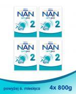 Nestle NAN OPTIPRO 2 Mleko następne dla niemowląt powyżej 6 miesiąca - 4 x 800 g