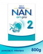 Nestle NAN OPTIPRO 2 Mleko następne dla niemowląt powyżej 6 miesiąca - 800 g