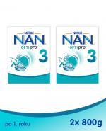 NESTLE NAN OPTIPRO 3 Mleko modyfikowane w proszku po 1 roku - 2 x 800 g