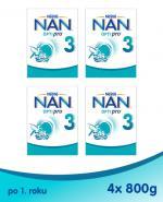 NESTLE NAN OPTIPRO 3 Mleko modyfikowane w proszku po 1 roku - 4 x 800 g