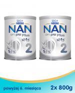 Nestle NAN OPTIPRO Plus 2 HM-O Mleko następne dla niemowląt powyżej 6 miesiąca - 2 x 800 g (puszka)