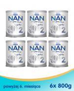 Nestle NAN OPTIPRO Plus 2 HM-O Mleko następne dla niemowląt powyżej 6 miesiąca - 6 x 800 g (puszka)