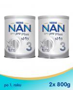 NESTLE NAN OPTIPRO PLUS 3 Mleko modyfikowane w proszku po 1 roku - 2x800 g (puszka)