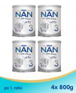 Nestle NAN OPTIPRO Plus 3 Mleko modyfikowane junior dla dzieci po 1. roku - 4 x 800 g (puszka)