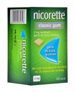 NICORETTE Classic 2 mg - 105 szt. Gumy do żucia na rzucanie palenia - cena, opinie, właściwości