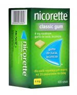 NICORETTE Classic 4mg - 105 szt. Gumy na rzucanie palenia - cena, opinie, wskazania