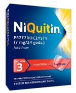 NIQUITIN 7 mg/24 h - 7 plast. -Lek na rzucenie palenia