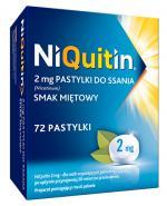 NIQUITIN Pastylki do ssania o smaku miętowym 2 mg - 72 szt. - Apteka internetowa Melissa