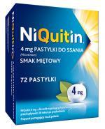 NIQUITIN Pastylki do ssania na rzucenie palenia o smaku miętowym 4 mg - 72 szt.