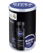 NIVEA MEN DEEP IMPACT ZESTAW Antyperspirant roll-on + Pianka do golenia + Krem - 50 ml + 200 ml + 150 ml - Apteka internetowa Melissa