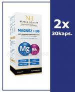 NOBLE HEALTH Magnez + B6 - 2 x 30 kaps. - Apteka internetowa Melissa