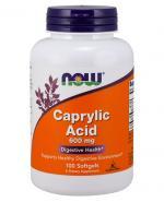 NOW FOODS Caprylic Acid 600 mg  - 100 kaps. - Apteka internetowa Melissa