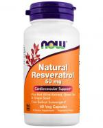 NOW FOODS Natural resveratrol 50 mg - 60 kaps. - Apteka internetowa Melissa