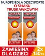 NUROFEN DLA DZIECI FORTE zawiesina 200 mg/5 ml o smaku truskawkowym 2 x 150 ml - Apteka internetowa Melissa