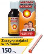 NUROFEN FORTE SYROP DLA DZIECI truskawkowy 40 mg/ml - 150 ml