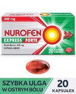 NUROFEN EXPRESS FORTE - 20 kaps. Ekspresowa ulga w bólu.