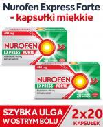 Nurofen Express Forte 400 mg x 40 kaps.miękkich - Apteka internetowa Melissa