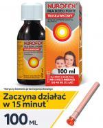 NUROFEN FORTE Syrop dla dzieci truskawkowy 40 mg/ml - 100 ml - Apteka internetowa Melissa