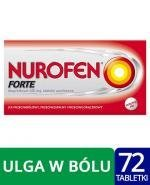 Nurofen Forte Tabletki powlekane 400 mg x 72tbl - Apteka internetowa Melissa