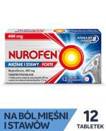 NUROFEN MIĘŚNIE I STAWY FORTE 400mg - 12 tabl. - Apteka internetowa Melissa
