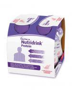 NUTRIDRINK PROTEIN Truskawka - 4 x 125 ml. Dla pacjentów onkologicznych.
