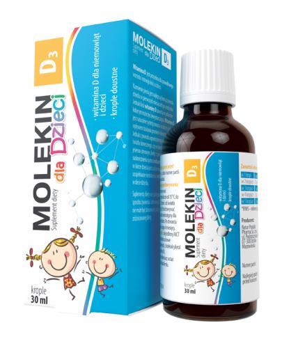 MOLEKIN D3 Krople dla dzieci - 30 ml - Apteka internetowa Melissa