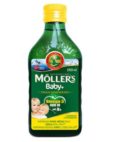 MOLLERS BABY Tran norweski o aromacie cytrynowym - 250 ml - Apteka internetowa Melissa
