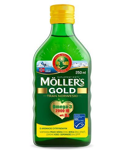 MOLLERS GOLD Tran norweski o aromacie cytrynowym - 250 ml - Apteka internetowa Melissa