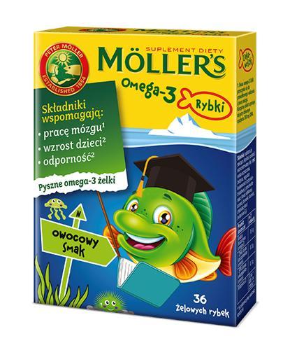 MOLLERS OMEGA-3 Rybki smak owocowy - 36 szt. (żelowych rybek) - Apteka internetowa Melissa