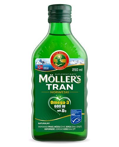 MOLLERS Tran norweski naturalny - 250 ml - cena, opinie, właściwości - Apteka internetowa Melissa