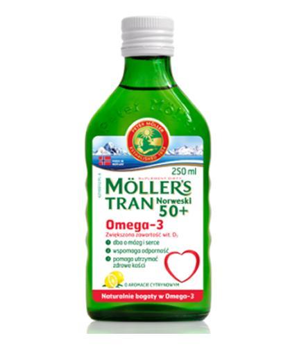 MOLLERS Tran norweski o aromacie cytrynowym 50+ - 250 ml - Drogeria Melissa