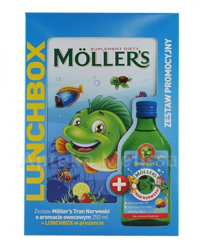 MOLLERS Tran norweski o aromacie owocowym - 250 ml + Lunchbox w prezencie - Apteka internetowa Melissa