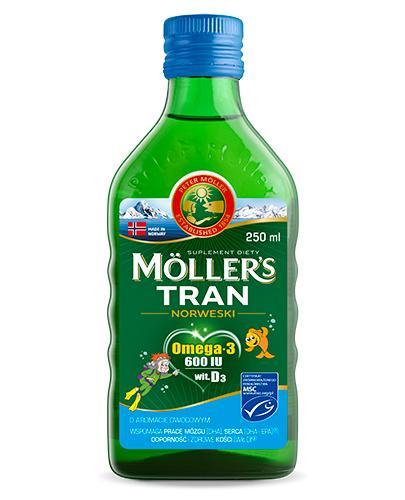 MOLLERS Tran norweski o aromacie owocowym - 250 ml - cena, opinie, właściwości - Apteka internetowa Melissa