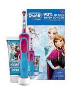 ORAL-B Szczoteczka elektryczna dla dzieci + pasta do zębów z fluorem FROZEN - 1 zestaw - Apteka internetowa Melissa