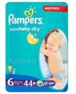 PAMPERS ACTIVE BABY DRY 6 EXTRA LARGE 15+ Pieluchy - 44 szt. - Apteka internetowa Melissa