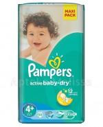 PAMPERS ACTIVE BABY-DRY 4+ MAXI+ 9-16 kg Pieluchy - 53 szt. - Apteka internetowa Melissa