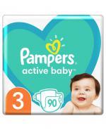 PAMPERS ACTIVE BABY-DRY 3 MIDI 5-9 kg Pieluchy - 90 szt. - Apteka internetowa Melissa
