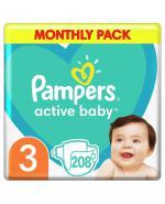 PAMPERS ACTIVE BABY 3 MIDI Pieluchy 6-10 kg - 208 szt.