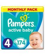 PAMPERS ACTIVE BABY DRY 4 MAXI Pieluchy 8-14 kg - 174 szt. - Apteka internetowa Melissa