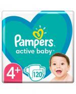 PAMPERS ACTIVE BABY 4+ MAXI PLUS Pieluchy 9-16 kg - 120 szt. - cena, stosowanie, opinie